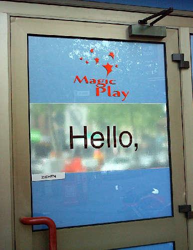say hello,